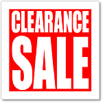 TCC Clearance Sale!